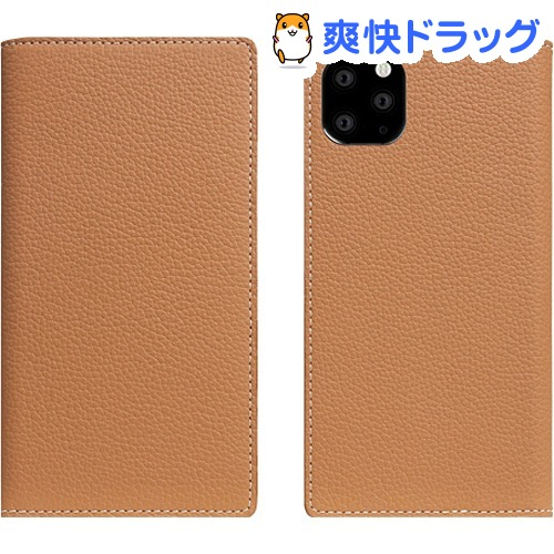 SLG iPhone 11 Pro Max Full Grain Leather Case キャラメルクリーム SD17952i65R(1個)【SLG Design(エスエルジーデザイン)】