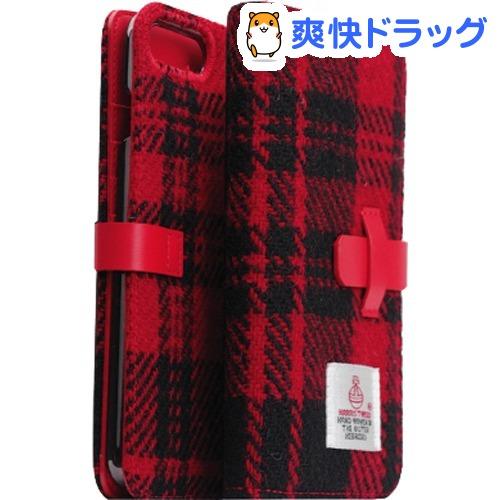 エスエルジーデザイン iPhone7 PLus ハリスツィード ダイアリー レッド*ブラック(1コ入)【SLG Design(エスエルジーデザイン)】