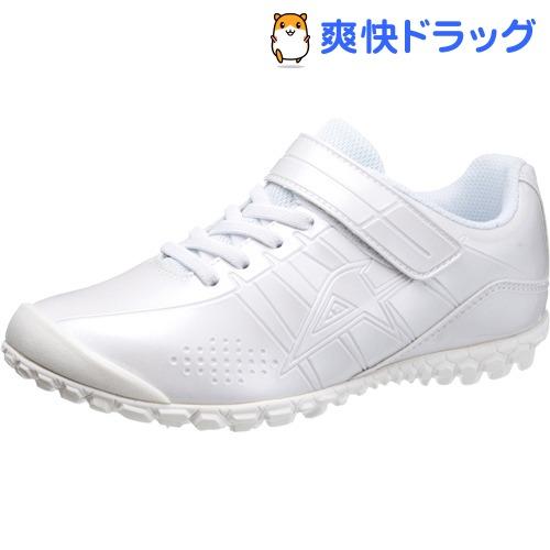 アサヒ ジュニア向けスニーカー J004 ホワイト/ホワイト 23.5cm(1足)【ASAHI(アサヒシューズ)】