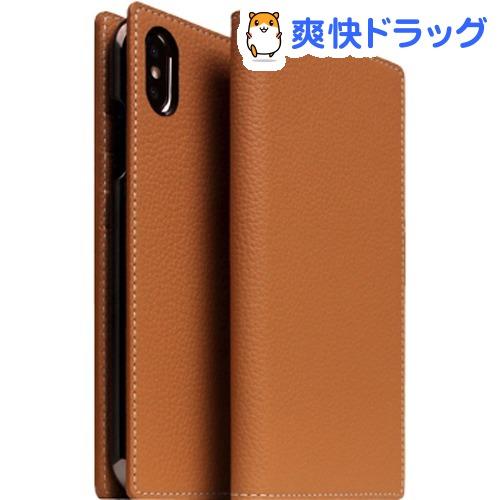 SLG iPhone XS/X フルグレインレザーケース キャラメルクリーム SD13657i58(1個)【SLG Design(エスエルジーデザイン)】