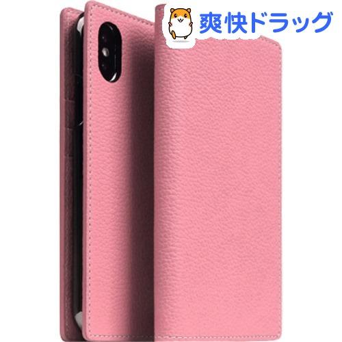 SLG iPhone XS/X フルグレインレザーケース ライトローズ SD13659i58(1個)【SLG Design(エスエルジーデザイン)】