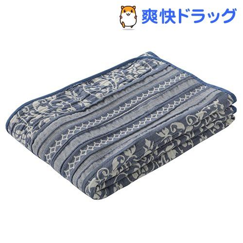 東京西川 ガーゼケット 洗える やわらか 3重ガーゼ湿度調節 日本製 ネイビー シングル(1枚入)【東京西川】