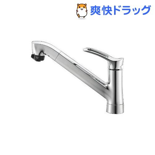 三栄水栓 シングルワンホールスプレー混合栓 キッチン用 K87120TJV(1コ入)