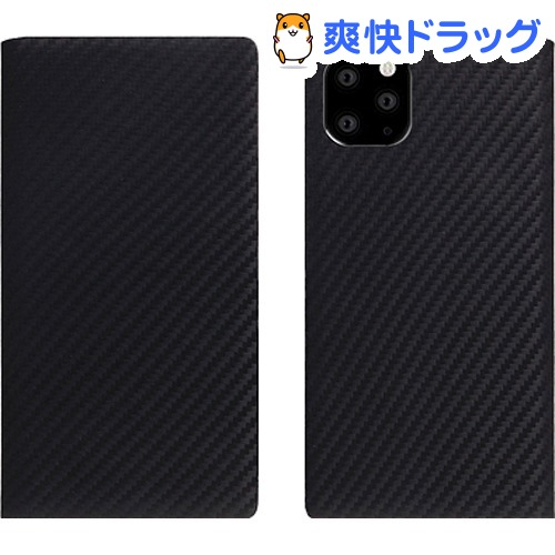 SLG Design iPhone 11 Pro carbon leather case ブラック SD17860i58R(1個)【SLG Design(エスエルジーデザイン)】