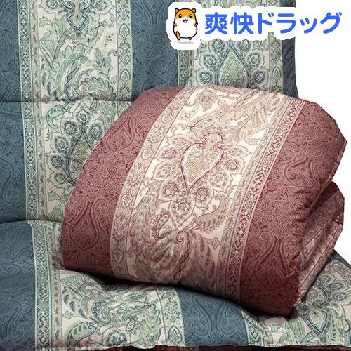 英国産ダウン&フェザー掛布団 ペイズリー ブルー シングル(1枚入)
