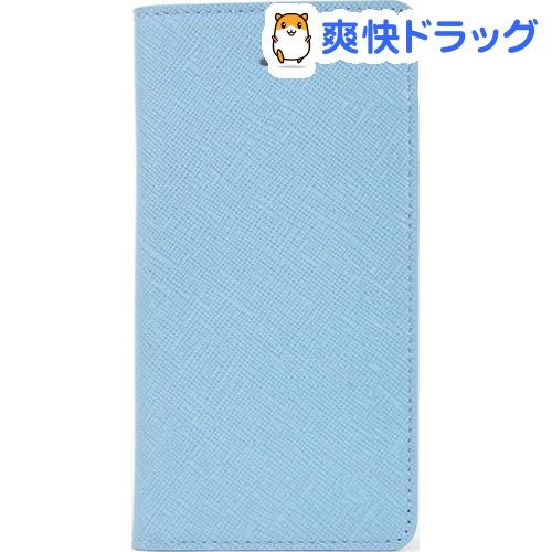 レイブロック iPhone SE サフィアーノフリップケース シルクブルー LB7556i5se(1コ入)【レイブロック】【送料無料】