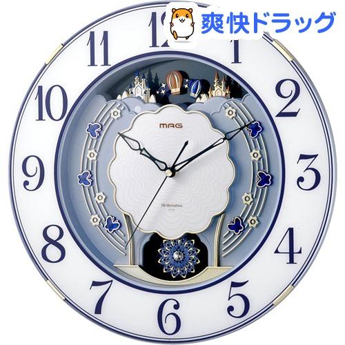 ノア精密 MAG電波報時掛時計 ルネッタ W-726 BU(1個)【ノア精密】
