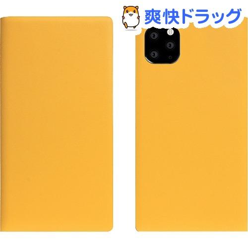 SLG Design iPhone 11 Pro Max Calf Skin Leather Diary イエロー SD17961i65R(1個)【SLG Design(エスエルジーデザイン)】