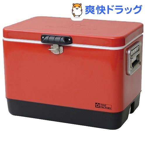 テントファクトリー メタルクーラースチールボックス L TF-MBM51 RE(1個)【テントファクトリー】[クーラーボックス]