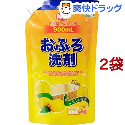 アドグッド エコグッド おふろ洗剤 大容量つめかえ用 2コセット レモンの香り 大特価!! 大注目 900ml