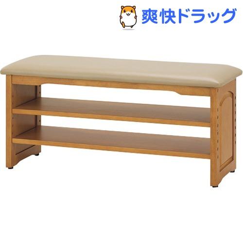 木製収納付き玄関ベンチ(ガタつき防止付き) 90cm幅 03520(1台)