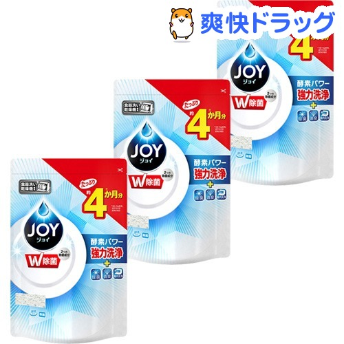 人気の製品 ジョイ Joy ハイウォッシュジョイ 食洗機用洗剤 安全 除菌 つめかえ用 3コセット stkt06 490g