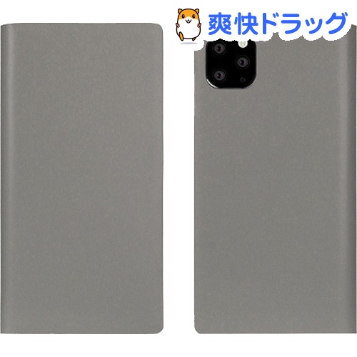 SLG Design iPhone 11 Pro Max Calf Skin Leather Diary グレー SD17963i65R(1個)【SLG Design(エスエルジーデザイン)】