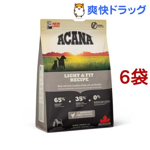 アカナ 犬用 ライト&フィット(正規輸入品)(2kg*6袋セット)【オリジン】