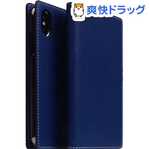 SLG iPhone XS/X フルグレインレザーケース ネイビーブルー SD13663i58(1個)【SLG Design(エスエルジーデザイン)】
