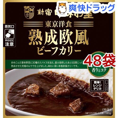 新宿中村屋 熟成欧風ビーフカリー ローストオニオンの香りとコク(180g*48袋セット)【新宿中村屋】