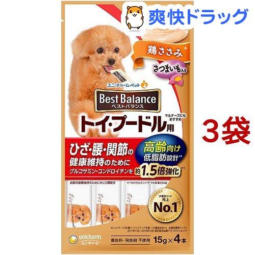 ベストバランス 犬 送料無料激安祭 おやつ 祝日 トイ 3袋セット 高齢向け 60g プードル用