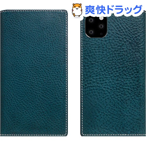 SLG Design iPhone 11 Pro Minerva Box Leather Case ブルー SD17865i58R(1個)【SLG Design(エスエルジーデザイン)】