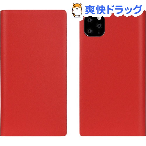 SLG Design iPhone 11 Pro Max Calf Skin Leather Diary レッド SD17966i65R(1個)【SLG Design(エスエルジーデザイン)】