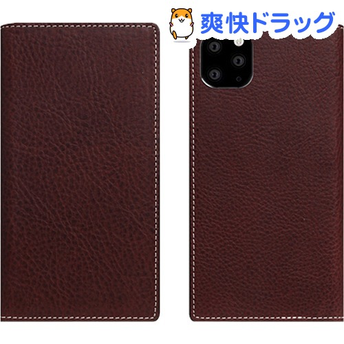 SLG Design iPhone 11 Pro Minerva Box Leather Case ブラウン SD17867i58R(1個)【SLG Design(エスエルジーデザイン)】