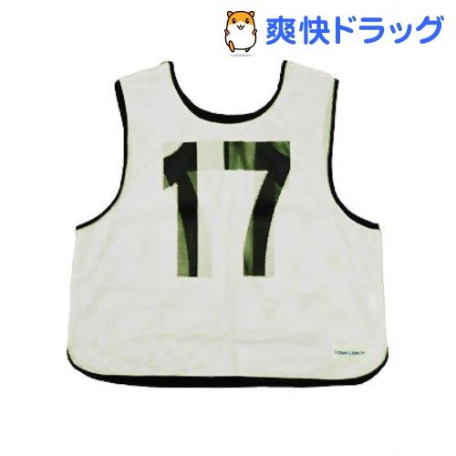 メッシュベストジュニア(11-20) 白 B-7694W(1枚入)【トーエイライト】