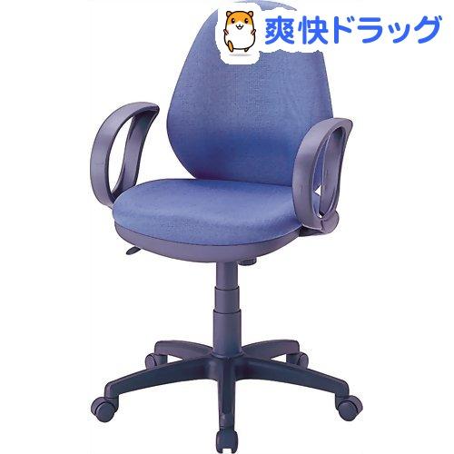 ナカバヤシ OAチェア ブルー 肘付 CGN-302-B(1コ入)【ナカバヤシ】