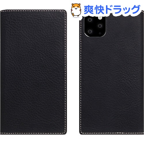 SLG Design iPhone 11 Pro Minerva Box Leather Case ブラック SD17868i58R(1個)【SLG Design(エスエルジーデザイン)】