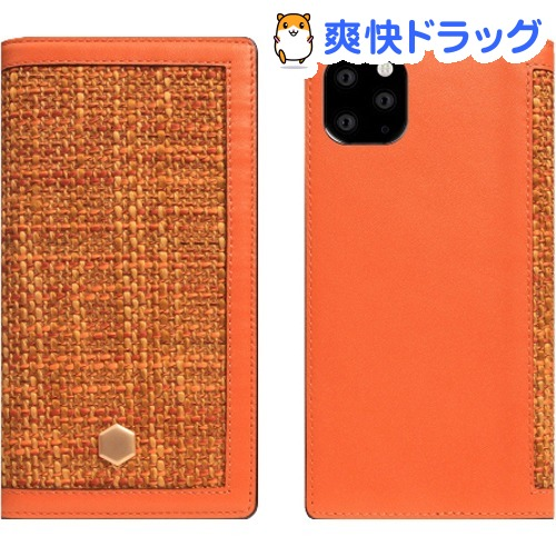 SLG iPhone 11 Pro Max Edition Calf Skin Leather Diary オレンジ SD17970i65R(1個)【SLG Design(エスエルジーデザイン)】