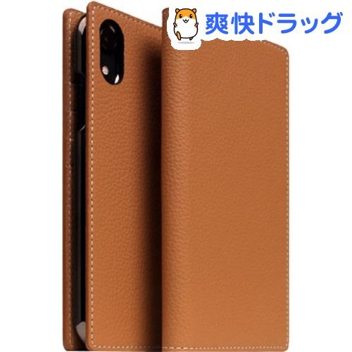 SLG iPhone XR フルグレインレザーケース キャラメルクリーム SD13670i61(1個)【SLG Design(エスエルジーデザイン)】