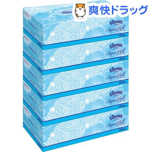 売れ筋 ティッシュ クリネックス クリネックスティシュー アクアヴェール 5箱パック 180組 360枚 流行