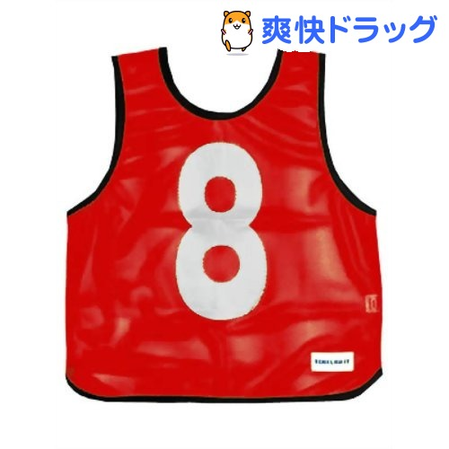 メッシュベスト(1-10) 赤 B-7691R(1枚入)【トーエイライト】