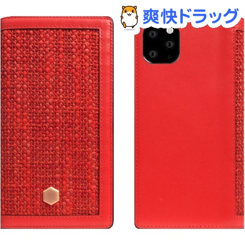 SLG Design iPhone 11 Pro Max Edition Calf Skin Leather Diary レッド SD17971i65R(1個)【SLG Design(エスエルジーデザイン)】