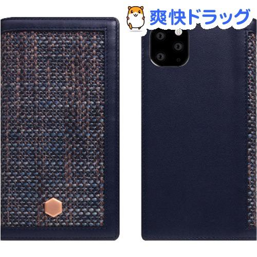SLG iPhone 11 Pro Max Edition Calf Skin Leather Diary ネイビー SD17972i65R(1個)【SLG Design(エスエルジーデザイン)】