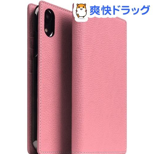 SLG iPhone XR フルグレインレザーケース ライトローズ SD13672i61(1個)【SLG Design(エスエルジーデザイン)】