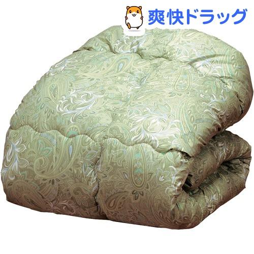 ウールキルト加工掛布団グリーン ダブル(1枚)