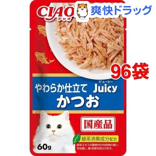 いなば チャオ ジューシーかつお(60g*96袋セット)【チャオシリーズ(CIAO)】
