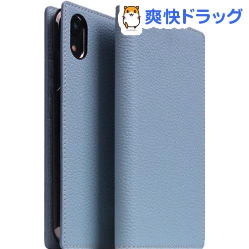 SLG iPhone XR フルグレインレザーケース パウダーブルー SD13675i61(1個)【SLG Design(エスエルジーデザイン)】