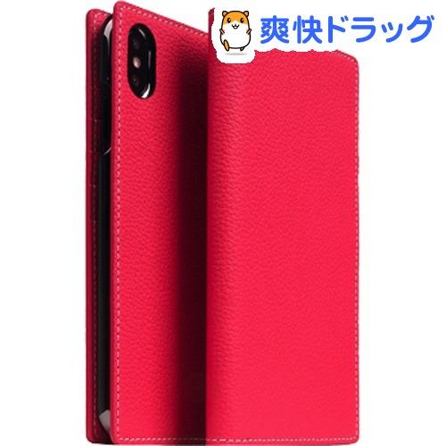 SLG iPhone XS MAX フルグレインレザーケース ピンクローズ SD15476i65(1個)【SLG Design(エスエルジーデザイン)】