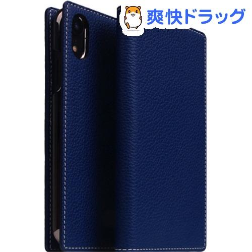 SLG iPhone XR フルグレインレザーケース ネイビーブルー SD13676i61(1個)【SLG Design(エスエルジーデザイン)】