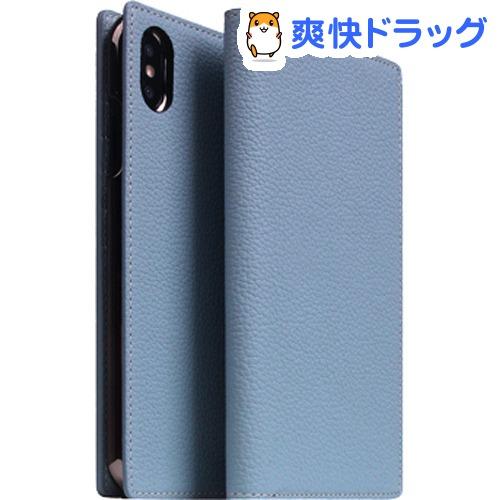 SLG iPhone XS MAX フルグレインレザーケース パウダーブルー SD15478i65(1個)【SLG Design(エスエルジーデザイン)】