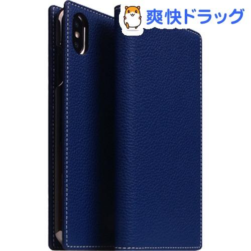 SLG iPhone XS MAX フルグレインレザーケース ネイビーブルー SD15479i65(1個)【SLG Design(エスエルジーデザイン)】