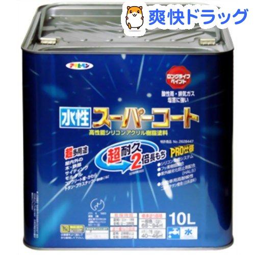 アサヒペン 水性スーパーコート 銀黒(10L)【アサヒペン】
