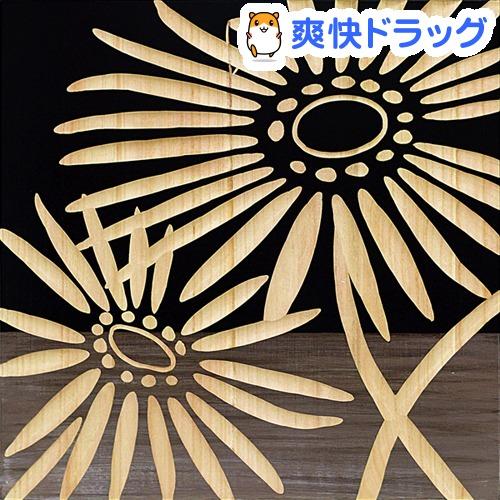 ユーパワー ハンドペイントウッドスカルプチャーアート ネーチャーガーベラ2 (BK+NP) SA-15068(1コ入)【ユーパワー】