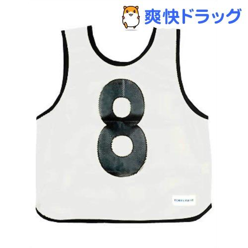 メッシュベストジュニア(1-10) 白 B-7693W(1枚入)【トーエイライト】