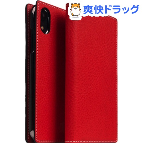 SLG iPhone XR ミネルバボックスレザーケース レッド SD13682i61(1個)【SLG Design(エスエルジーデザイン)】