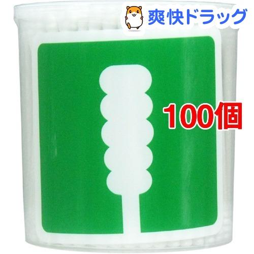 ユニバーサルデザイン スパイラル綿棒(凸凹型)(200本入*100個セット)