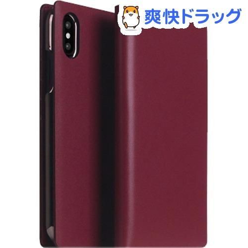 SLG iPhone XS MAX カーフスキンレザーダイアリー バーガンディ SD15483i65(1個)【SLG Design(エスエルジーデザイン)】