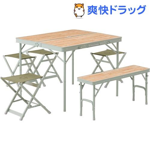 LOGOS Life ベンチテーブルセット6(1セット)【ロゴス(LOGOS)】