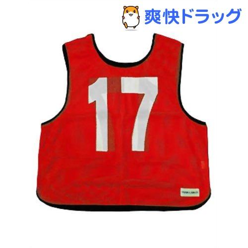 メッシュベストジュニア(11-20) 赤 B-7694R(1枚入)【トーエイライト】