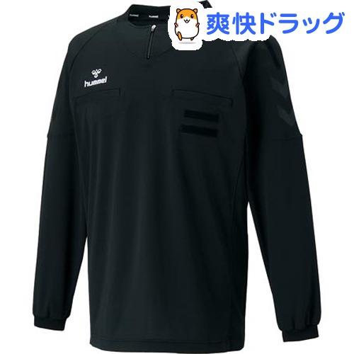 ヒュンメル レフリーL/Sシャツ HAK5004 ブラック Oサイズ(1枚入)【ヒュンメル】